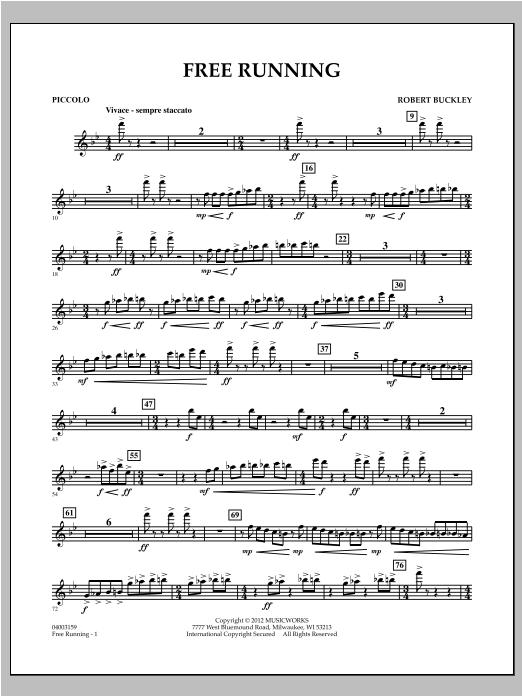 Free Running - Piccolo Sheet Music