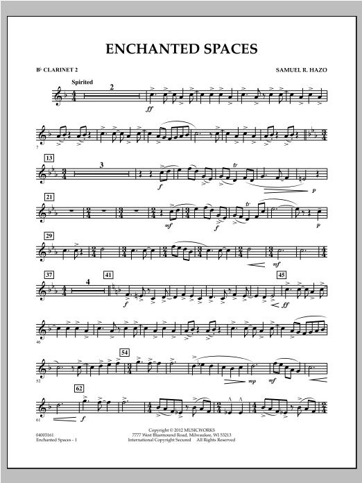 Enchanted Spaces - Bb Clarinet 2 Sheet Music