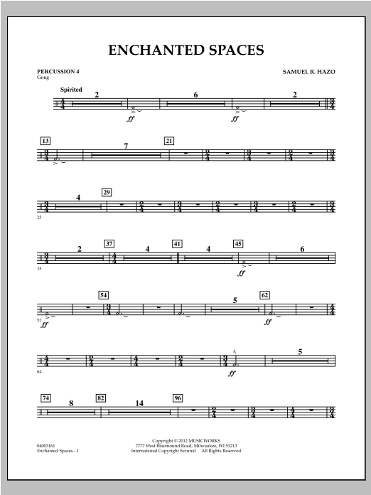 Enchanted Spaces - Percussion 4 Sheet Music