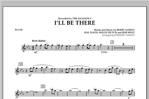 I'll Be There - Flute Sheet Music