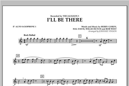 I'll Be There - Eb Alto Saxophone 1 Sheet Music