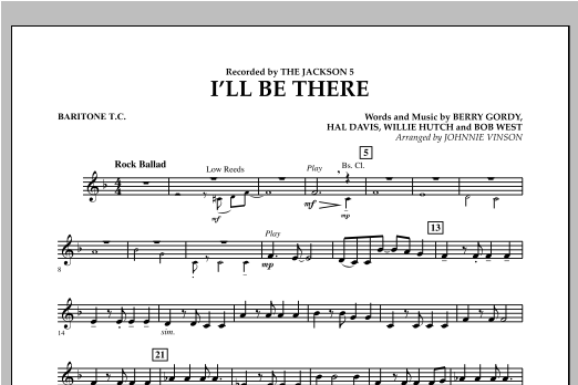 I'll Be There - Baritone T.C. (Concert Band)