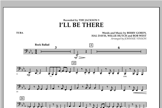 I'll Be There - Tuba Sheet Music
