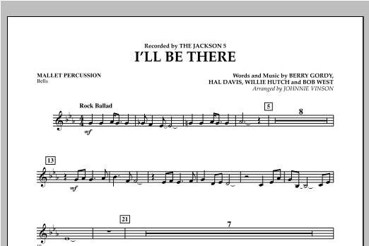 I'll Be There - Mallet Percussion Sheet Music