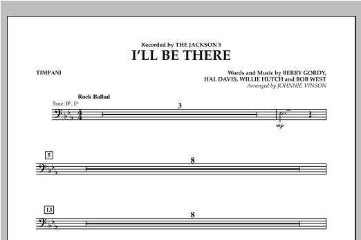 I'll Be There - Timpani Sheet Music
