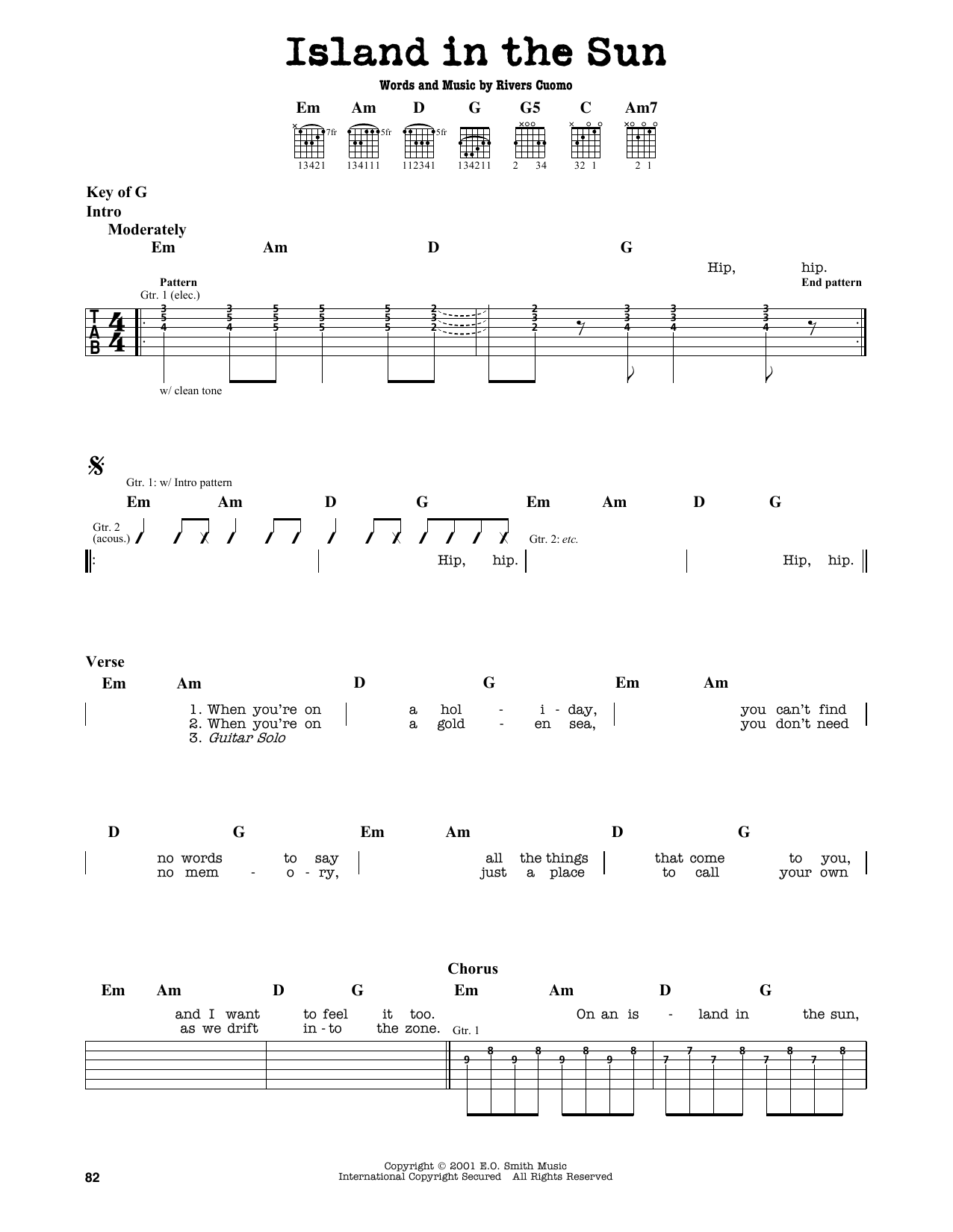 Island In The Sun Sheet Music