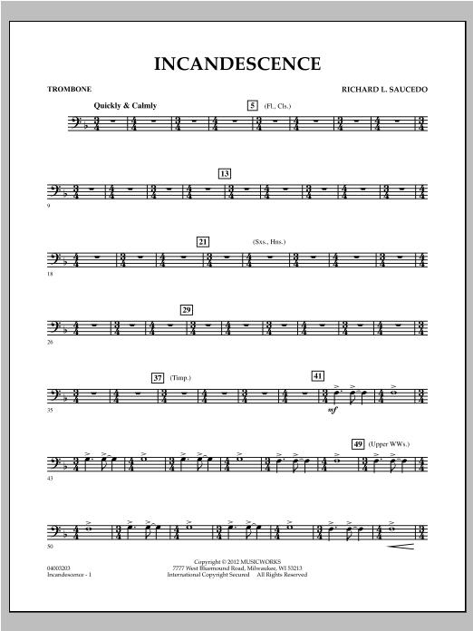 Incandescence - Trombone Sheet Music