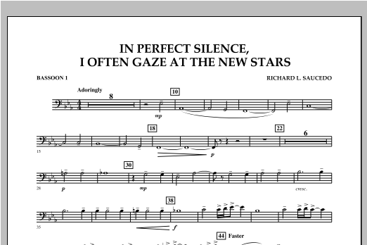 In Perfect Silence, I Often Gaze at the New Stars - Bassoon 1 Sheet Music