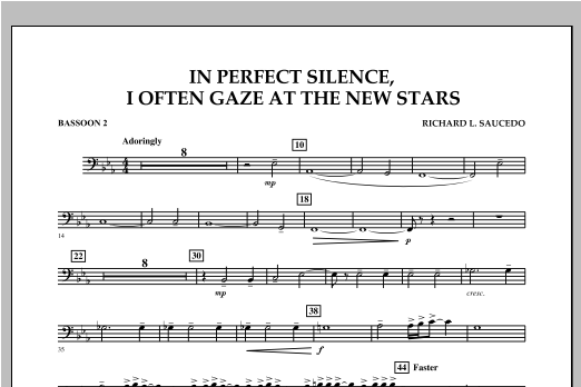 In Perfect Silence, I Often Gaze at the New Stars - Bassoon 2 Sheet Music