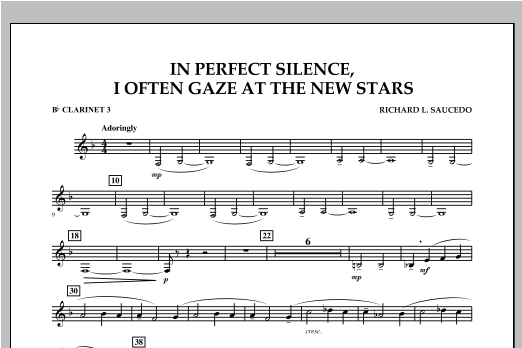 In Perfect Silence, I Often Gaze at the New Stars - Bb Clarinet 3 Sheet Music
