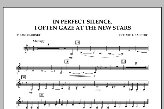 In Perfect Silence, I Often Gaze at the New Stars - Bb Bass Clarinet Sheet Music
