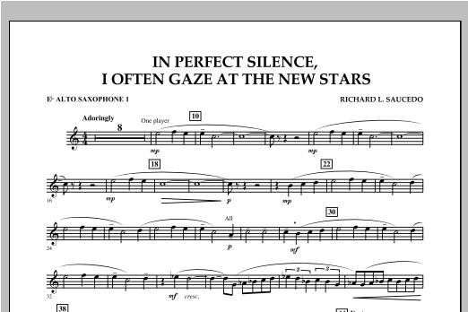 In Perfect Silence, I Often Gaze at the New Stars - Eb Alto Saxophone 1 Sheet Music