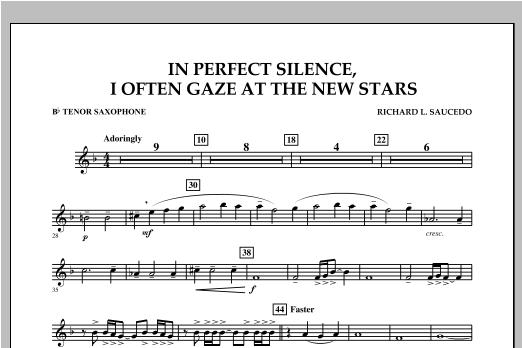 In Perfect Silence, I Often Gaze at the New Stars - Bb Tenor Saxophone Sheet Music