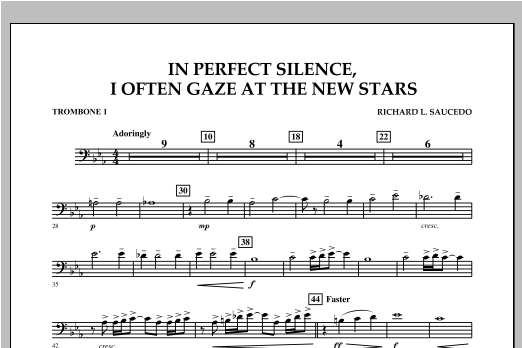 In Perfect Silence, I Often Gaze at the New Stars - Trombone 1 Sheet Music