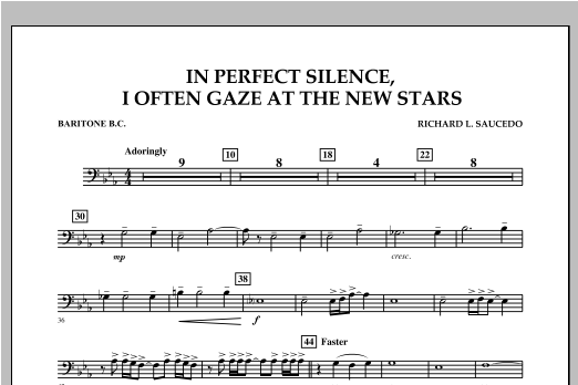 In Perfect Silence, I Often Gaze at the New Stars - Baritone B.C. Sheet Music