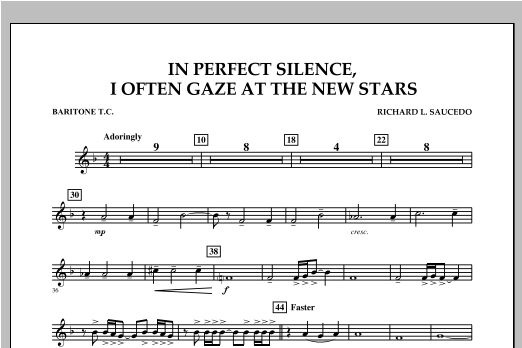 In Perfect Silence, I Often Gaze at the New Stars - Baritone T.C. Sheet Music