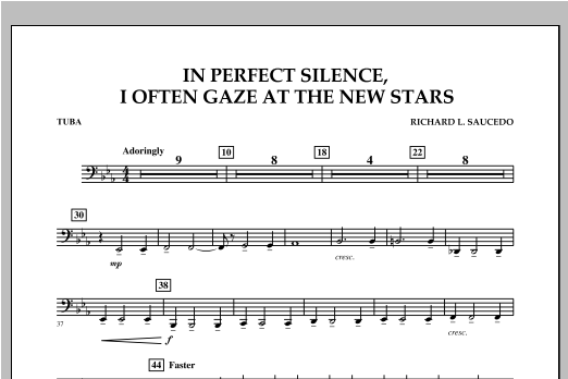 In Perfect Silence, I Often Gaze at the New Stars - Tuba Sheet Music