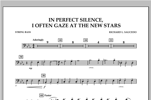 In Perfect Silence, I Often Gaze at the New Stars - String Bass Sheet Music