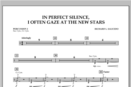 In Perfect Silence, I Often Gaze at the New Stars - Percussion 2 Sheet Music