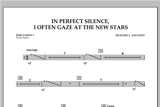In Perfect Silence, I Often Gaze at the New Stars - Percussion 3 Sheet Music
