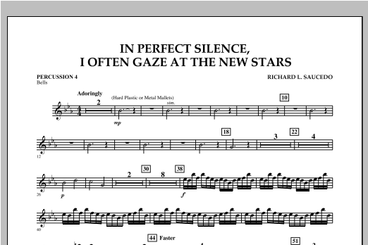 In Perfect Silence, I Often Gaze at the New Stars - Percussion 4 Sheet Music
