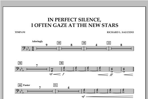 In Perfect Silence, I Often Gaze at the New Stars - Timpani Sheet Music