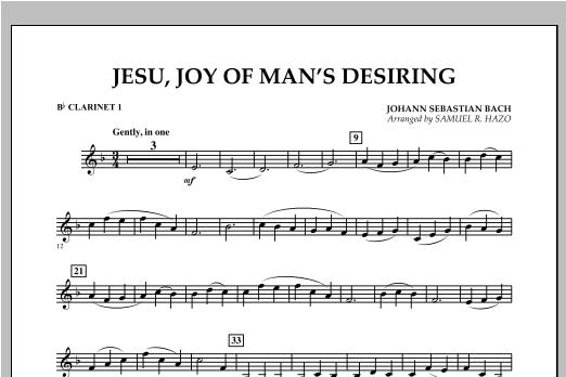 Jesu, Joy Of Man's Desiring - Bb Clarinet 1 Sheet Music