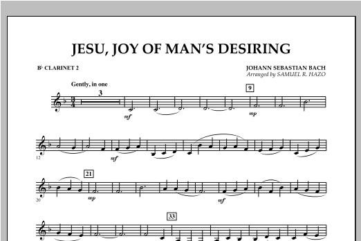 Jesu, Joy Of Man's Desiring - Bb Clarinet 2 Sheet Music