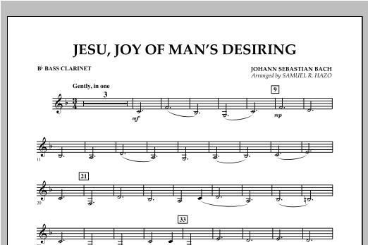 Jesu, Joy Of Man's Desiring - Bb Bass Clarinet Sheet Music