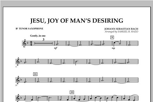 Jesu, Joy Of Man's Desiring - Bb Tenor Saxophone Sheet Music