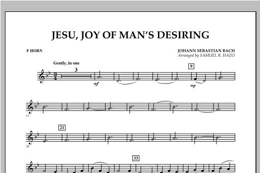 Jesu, Joy Of Man's Desiring - F Horn Sheet Music