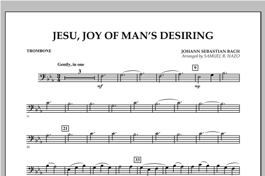 Jesu, Joy Of Man's Desiring - Trombone Sheet Music