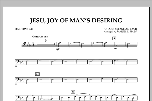 Jesu, Joy Of Man's Desiring - Baritone B.C. Sheet Music