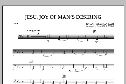 Jesu, Joy Of Man's Desiring - Tuba Sheet Music