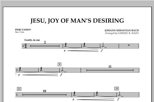 Jesu, Joy Of Man's Desiring - Percussion Sheet Music
