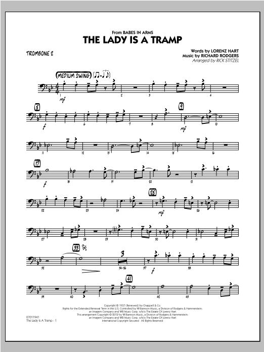 The Lady Is A Tramp - Trombone 2 Sheet Music