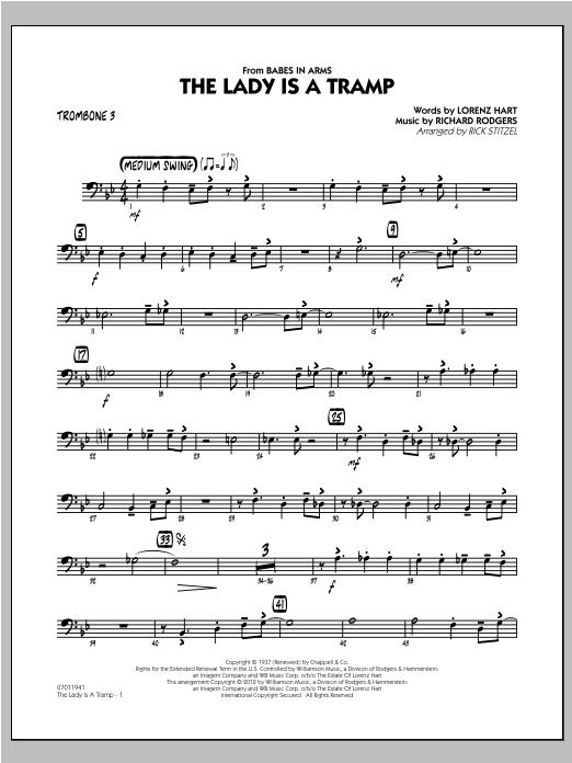 The Lady Is A Tramp - Trombone 3 Sheet Music