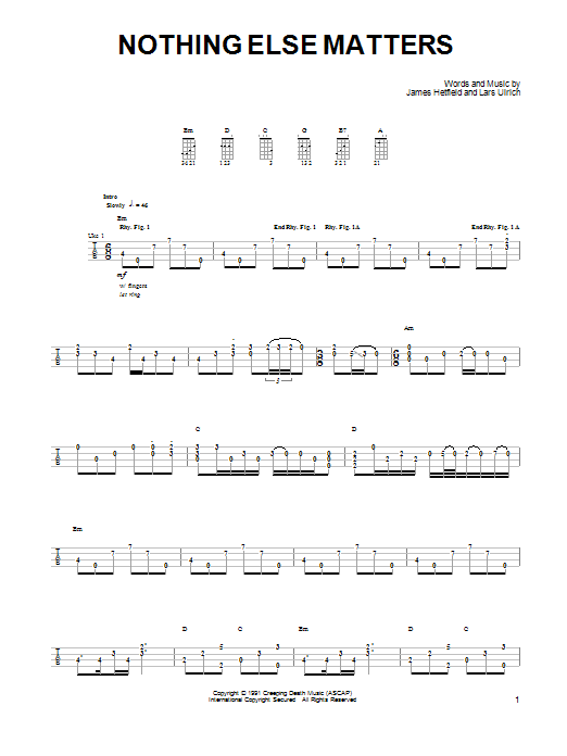 Piano piano tabs nothing else matters : Nothing Else Matters sheet music by Metallica (Ukulele – 91881)