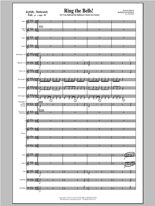 Ring the Bells! (complete set of parts) sheet music for orchestra/band (Orchestra) by Rosephanye Powell. Score Image Preview.