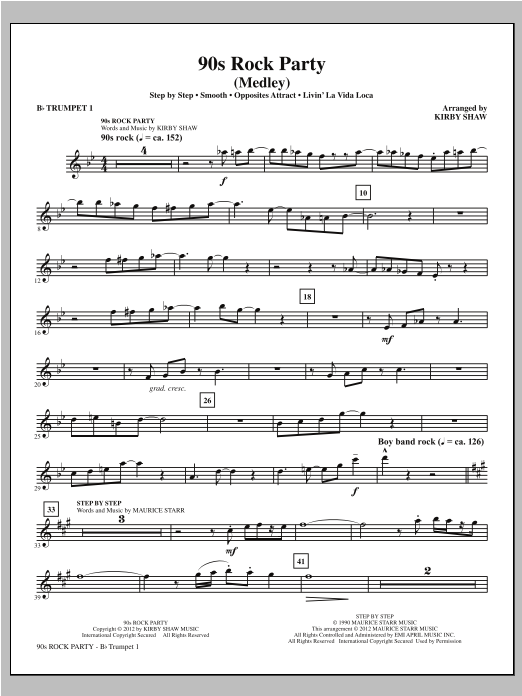 90s Rock Party - Bb Trumpet 1 Sheet Music