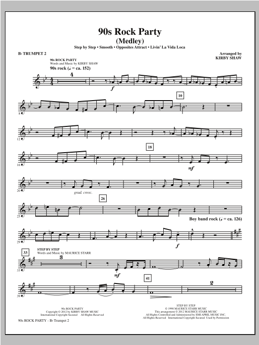 90s Rock Party - Bb Trumpet 2 Sheet Music