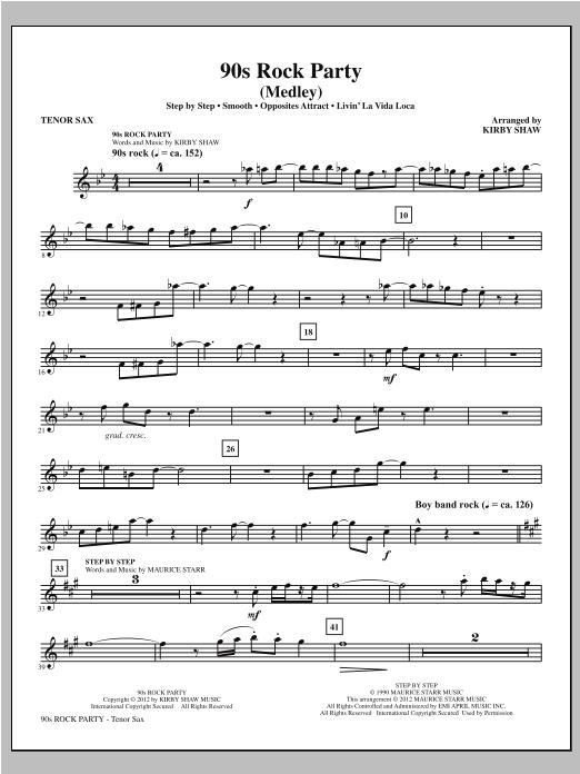 90s Rock Party - Tenor Sax Sheet Music