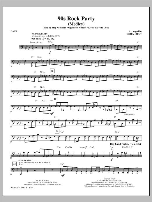 90s Rock Party - Bass Sheet Music