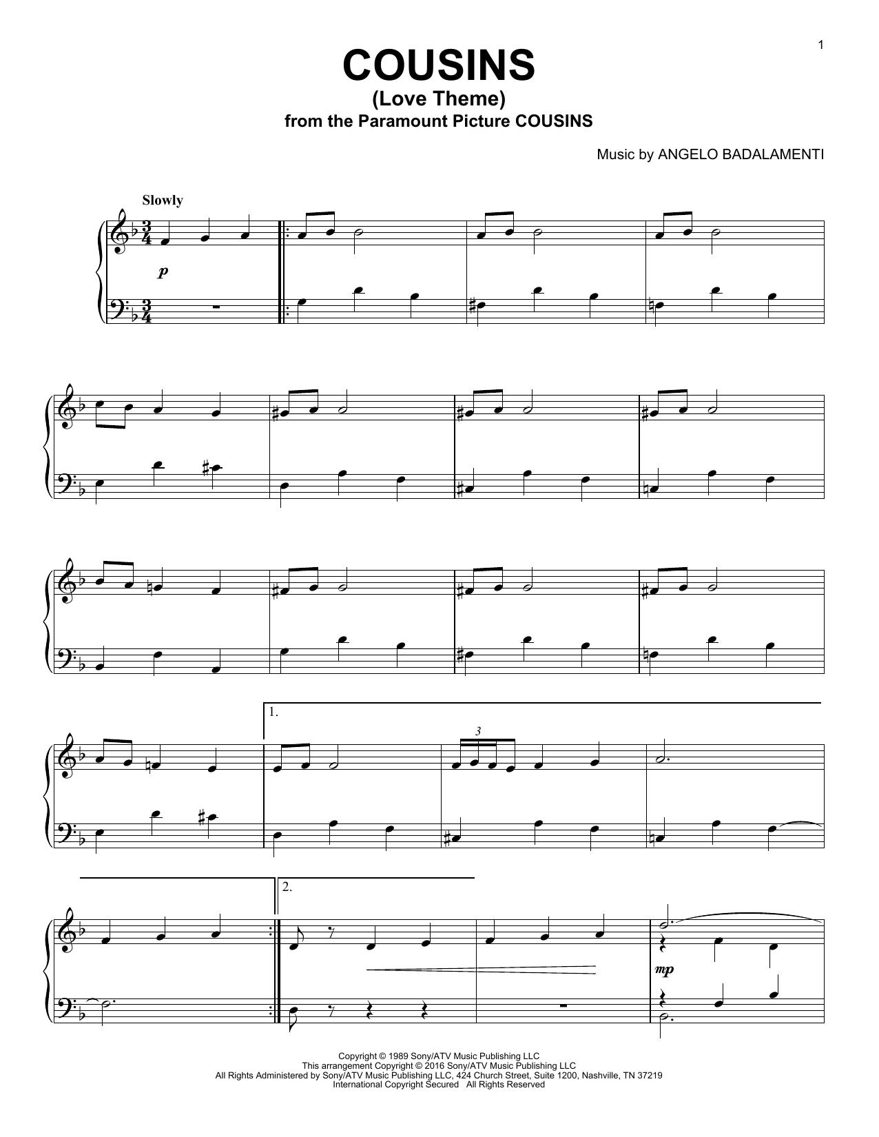 Cousins (Love Theme) (Piano Solo)