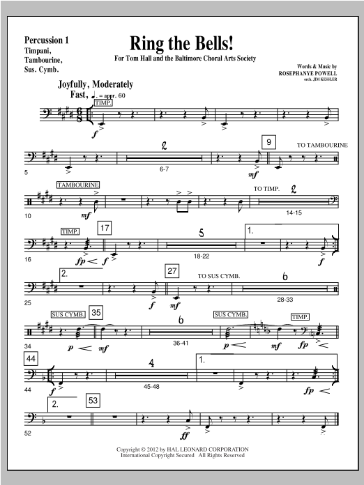 Ring The Bells! - Percussion 1 Sheet Music