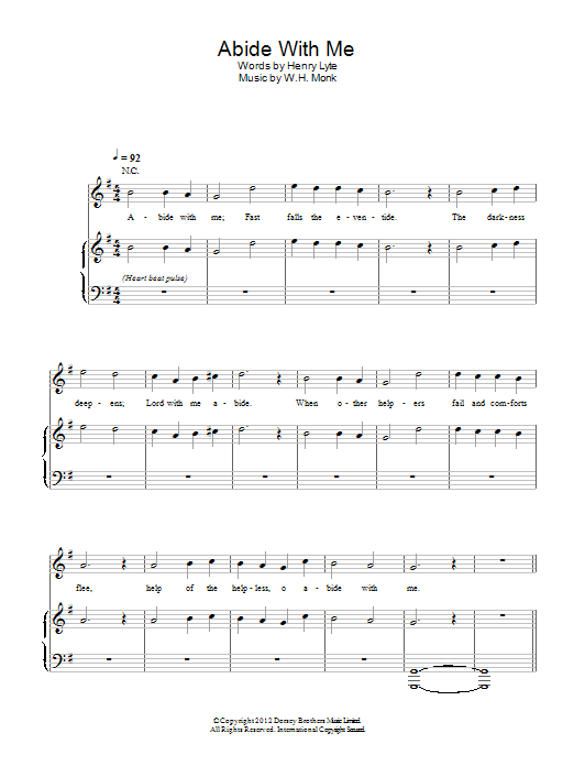 Abide With Me Sheet Music By Emeli Sand Piano Vocal 114578