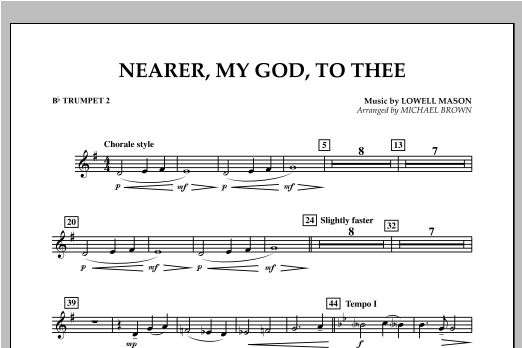 Nearer, My God, To Thee - Bb Trumpet 2 Sheet Music