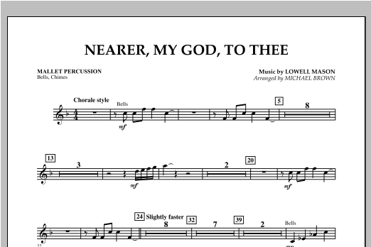 Nearer, My God, To Thee - Mallet Percussion Sheet Music