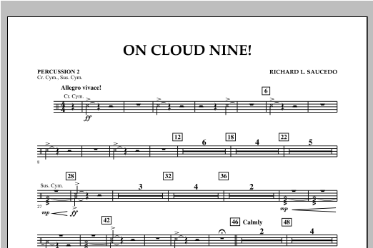 On Cloud Nine! - Percussion 2 Sheet Music