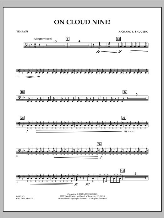 On Cloud Nine! - Timpani Sheet Music
